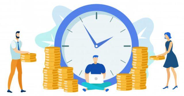 Иллюстрация на тему почасовой оплаты труда